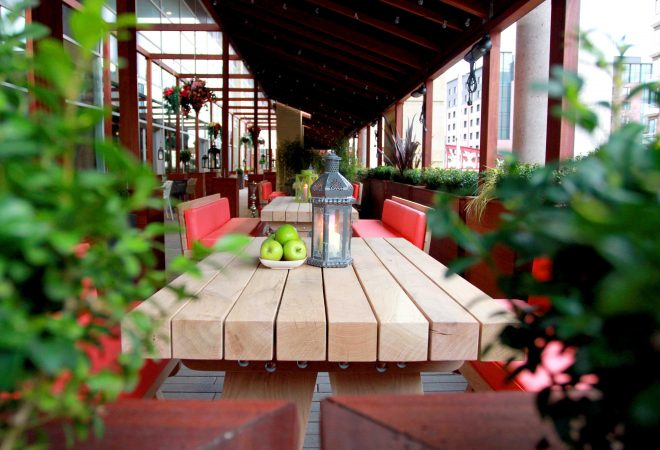 Scene Outdoor Seating Area