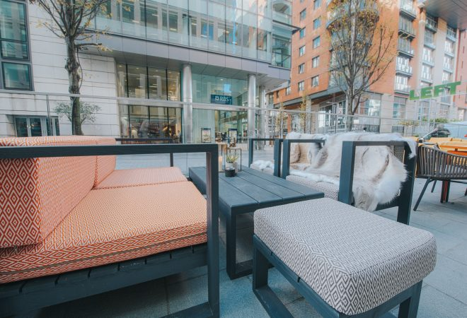 The Refinery Outdoor Seating Area